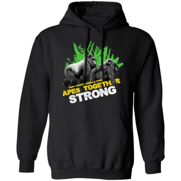 Gorilla Dian Fossey Gorilla Fund Apes Together Strong T-Shirts, Hoodies, Sweater Apparel 9
