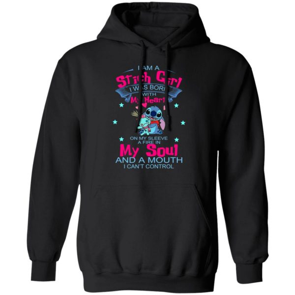I Am A Stich Girl Was Born In With My Heart On My Sleeve T-Shirts, Hoodies, Sweater Apparel 9