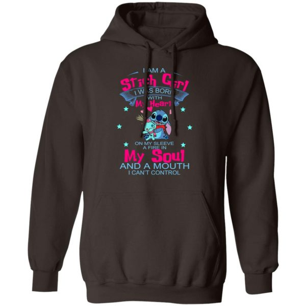 I Am A Stich Girl Was Born In With My Heart On My Sleeve T-Shirts, Hoodies, Sweater Apparel 11