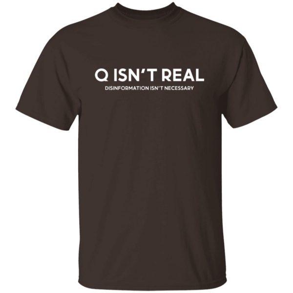 Q Isn't Real Disinformation Isn't Necessary T-Shirts, Hoodies, Sweatshirt Apparel 4