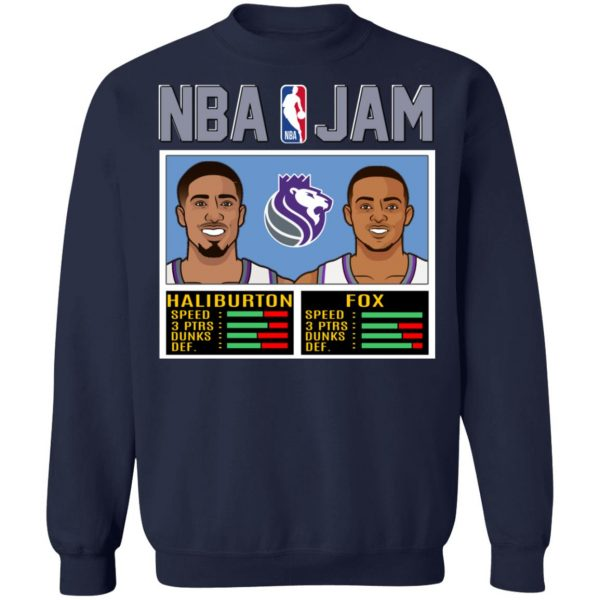 NBA Jam New Kings Haliburton Fox T-Shirts, Hoodies, Sweatshirt Apparel 14