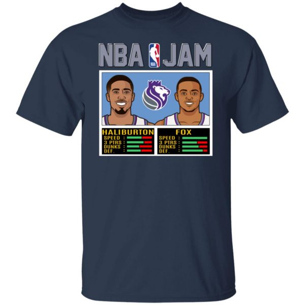 NBA Jam New Kings Haliburton Fox T-Shirts, Hoodies, Sweatshirt Apparel 5