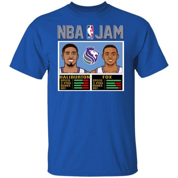 NBA Jam New Kings Haliburton Fox T-Shirts, Hoodies, Sweatshirt Apparel 6