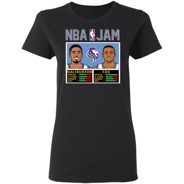 NBA Jam New Kings Haliburton Fox T-Shirts, Hoodies, Sweatshirt Apparel 7
