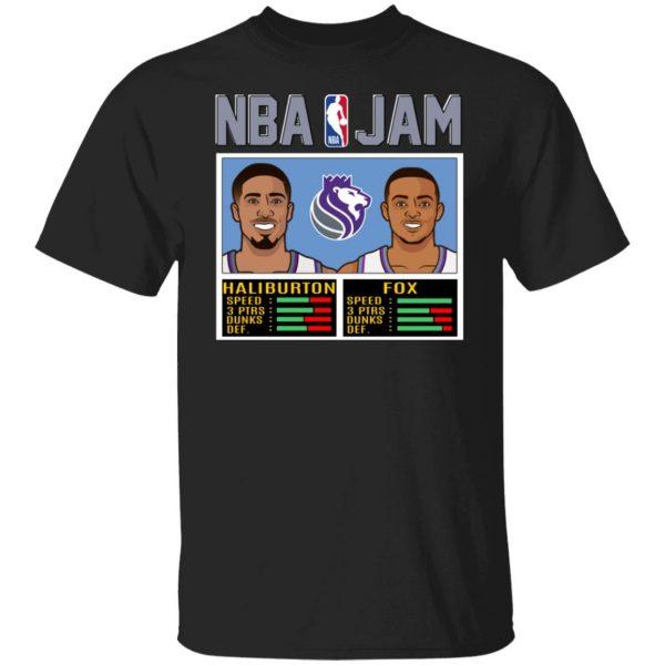 NBA Jam New Kings Haliburton Fox T-Shirts, Hoodies, Sweatshirt Apparel 3
