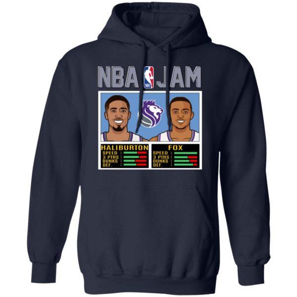 NBA Jam New Kings Haliburton Fox T-Shirts, Hoodies, Sweatshirt Apparel 10