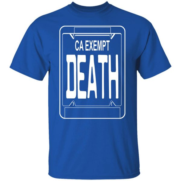 Government Plates By Death Grips Ca Exempt Death T-Shirts, Hoodies, Sweatshirt Apparel 6