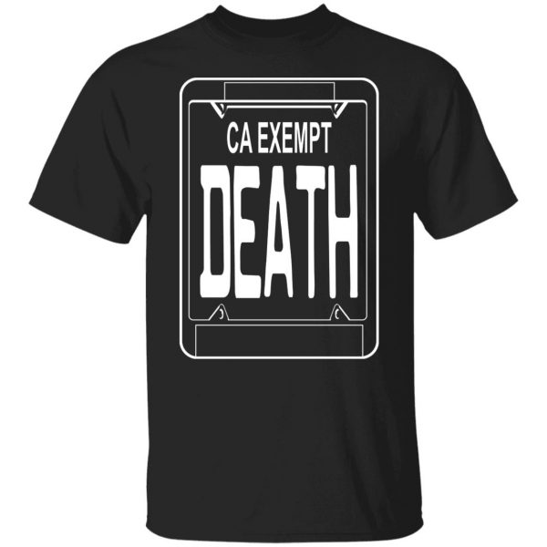 Government Plates By Death Grips Ca Exempt Death T-Shirts, Hoodies, Sweatshirt Apparel 3