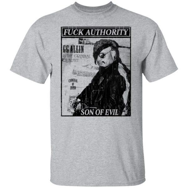 Fuck Authority Son Of Evil T-Shirts, Hoodies, Sweatshirt Apparel 5