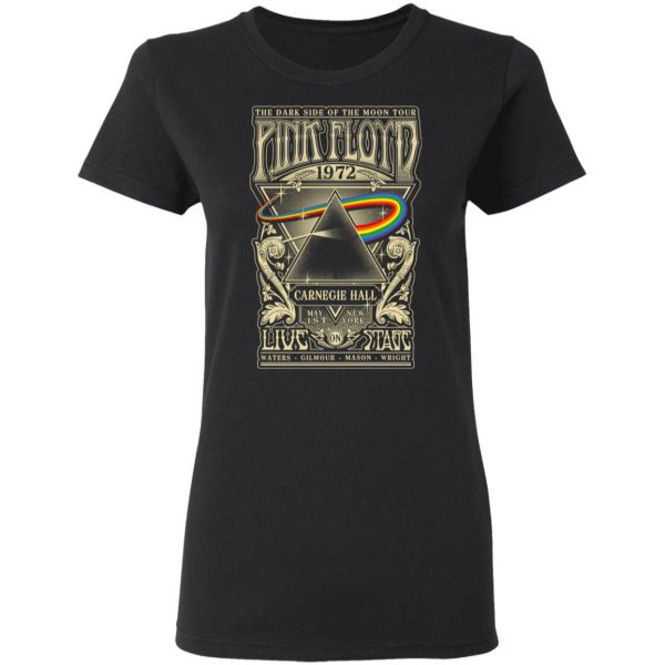 Pink Floyd 1972 The Dark Side Of The Moon Tour T-Shirts, Hoodies, Sweater Apparel 7